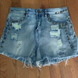 Blank NYC Embellished jean shorts